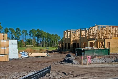 townhouse construction on the golf course