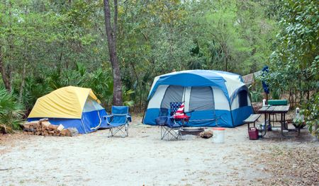 camping site: well equipped tent camping site