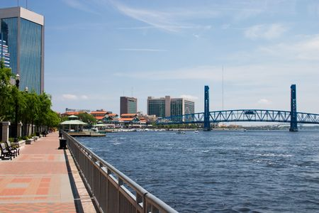 riverwalk area of downtown Jacksonville, Florida