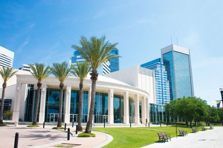 performing arts center in downtown Jacksonville, Florida 写真素材