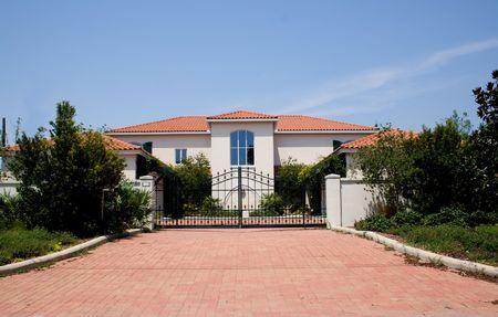 高級鉄ゲート熱帯フロリダのマンション