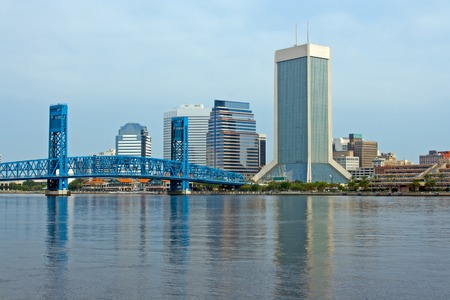 downtown Jacksonville, Florida from across the St. Johns River
