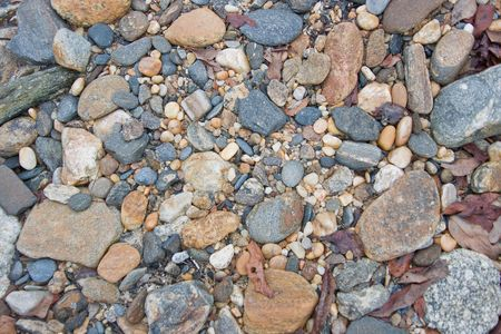 exposed river bottom pebbles photo