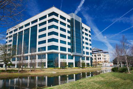 multi-story modern office building along the Riverwalk in Jacksonville, Florida