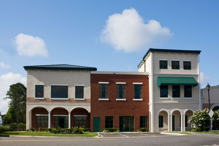 commercial building: newly constructed, mixed architectural styled professional offices