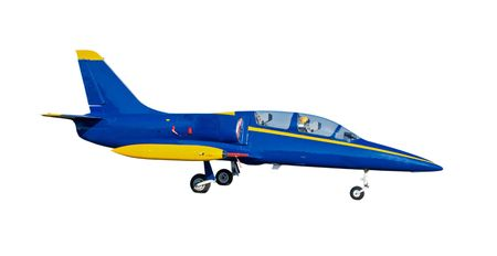 blue and yellow jet