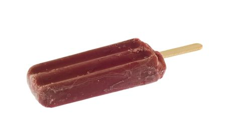 purple, grape popsicle isloated on white