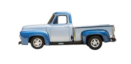 classic two tone blue truck