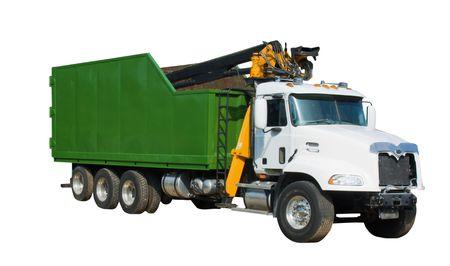 camion volteo: aislados libre transportista de carga de desechos de uso com�n despu�s de los huracanes u otros desastres naturales