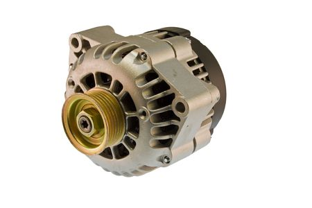 modern automotive power generating alternator ready to install