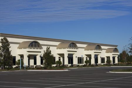 commercial real estate: light industrial or retail stores ready for tennants Stock Photo