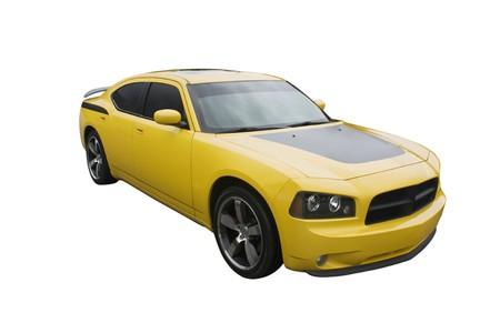 sportcar: modern sedan muscle car isolated on white