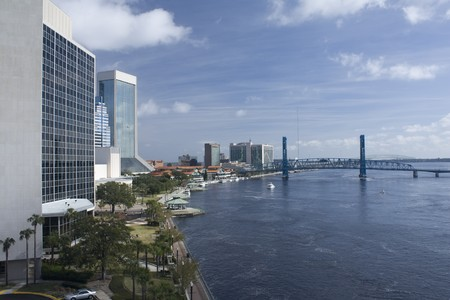 North riverbank of downtown Jacksonville, Florida