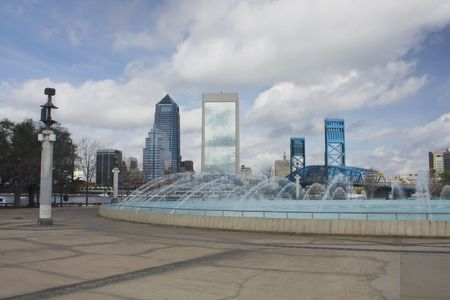 waterfront park across the St. John's River from downtown Jacksonville, FL