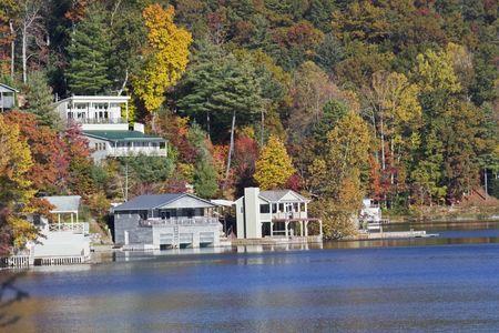 lakefront: lakefront vacation homes around a North Carolina mountain lake