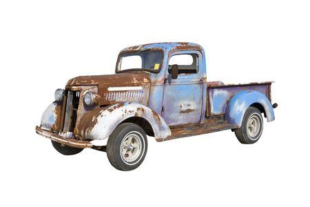 Vieille camionnette de démarrage pour une grande restauration Banque d'images - 5017673