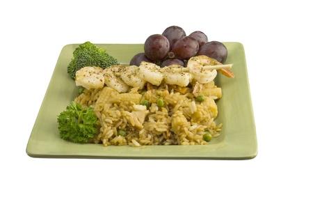 scampi: garlic shrimp scampi on rice