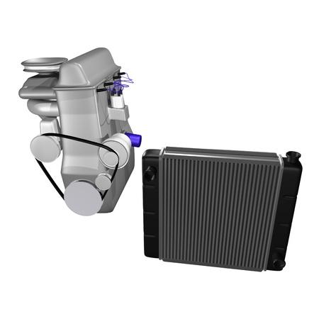 mechanical radiator: auto radiator with engine