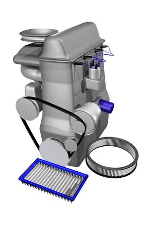 air filter: air filter concept