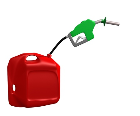 gas can: gas can with nozzle Stock Photo