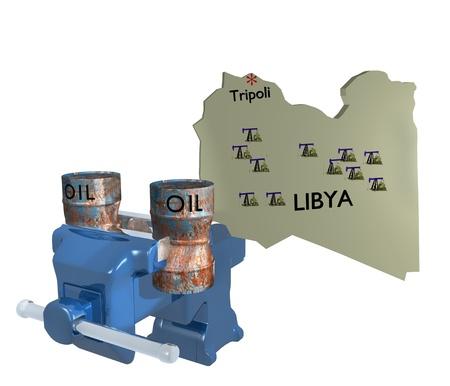 libyan: libya oil barrel crushed