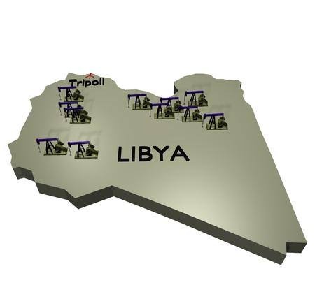Libya oil regions Stock fotó