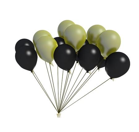 flotation: black and yellow balloon fan