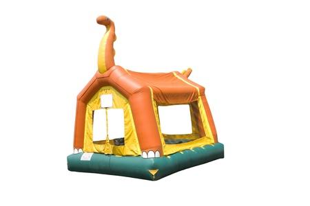 bounce: dinosaur bounce house Stock Photo