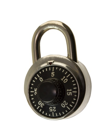 traditional locker combination lock photo