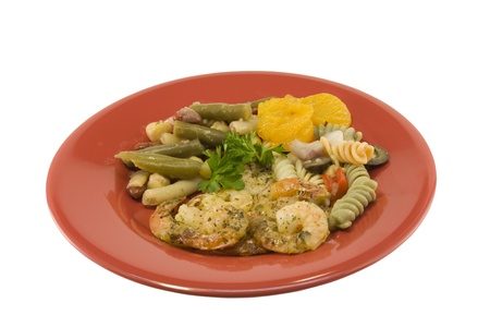 garlic shrimp meal Stock fotó