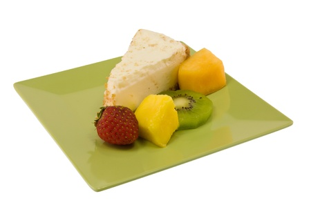 simple cheesecake with fresh fruit Stock fotó - 9029264