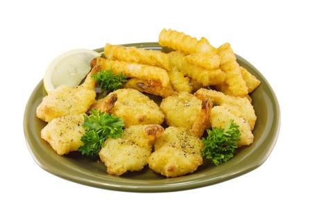 fried shrimp dinner Stock fotó