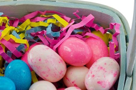 easter candy egg basket detail