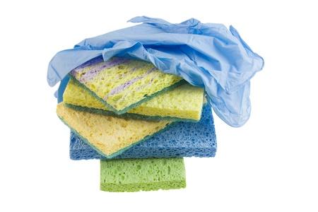 cleaning sponge stack Stock fotó - 9273226