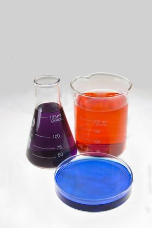 milliliters: chemistry lab glass