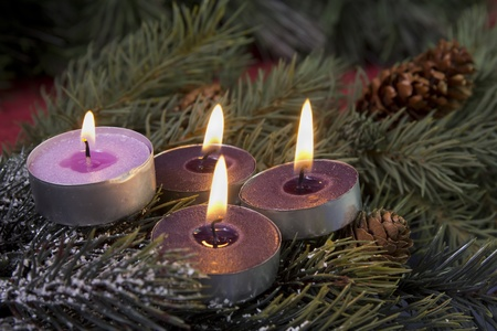 tea light advent candles photo