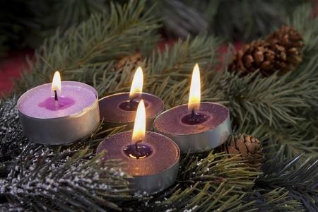 tea light advent candles