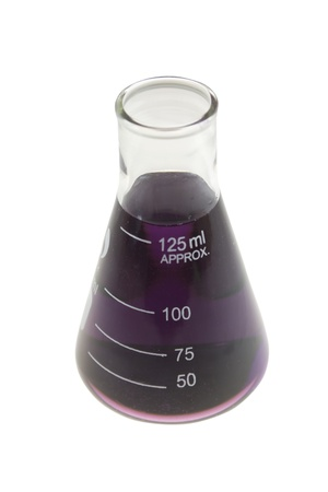 purple beaker