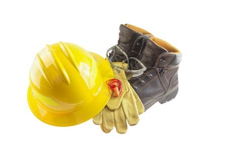 protective helmets: Dispositivi di protezione individuale Archivio Fotografico