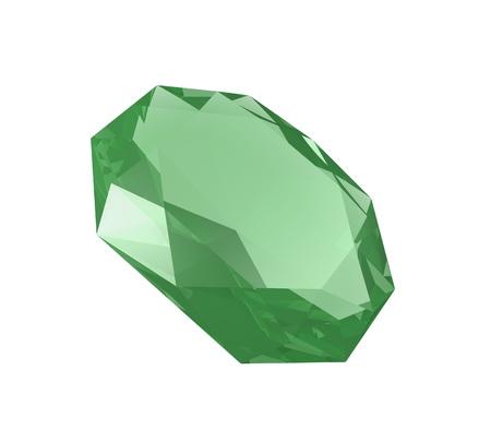 emerald on white Stock fotó - 11621664