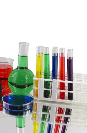 laboratory glassware variety Stock fotó