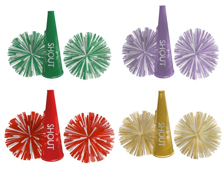 cheerleader horn and pompoms Stock Photo - 14329883