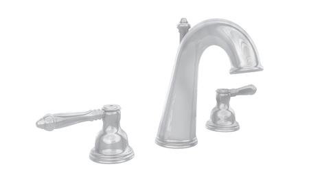 fixture: chrome faucet Stock Photo