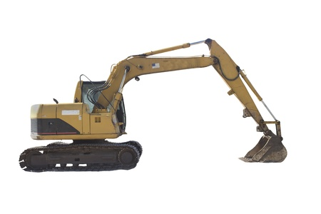 backhoe: tracked excavator