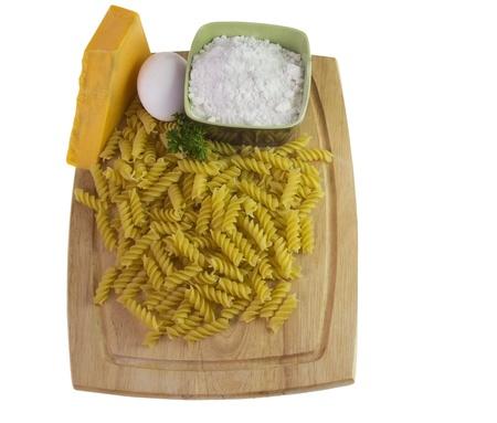 macaroni and cheese ingredients Stock fotó