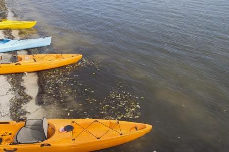colorful kayaks Stock fotó - 17183120