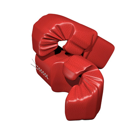 pair of red boxing gloves isolated on white Stock fotó - 24691607