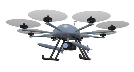 rotor: eight rotor drone with letal missles Stock Photo