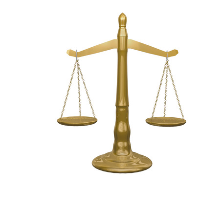 Classic golden scale symbolizing weighing of justice Stock fotó - 24691614