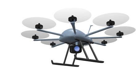 drone: eight rotor drone with camera tracking object